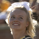 Sammie Davidson, Mizzou sophomore, cheerleader and Disability Center client. Photo by Sam O'Keefe/University of Missouri